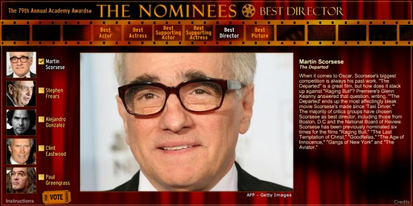79th Academy Awards Nominees interactive