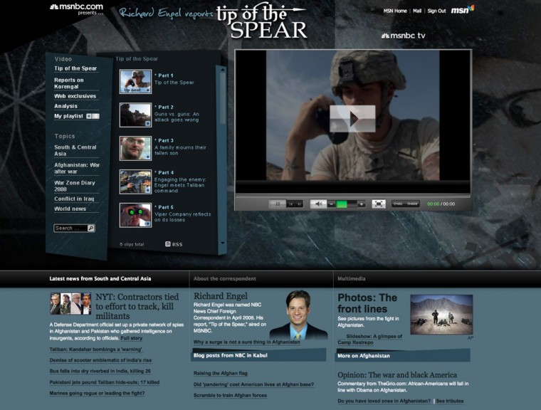 Richard Engel Tip of the Spear video showfront