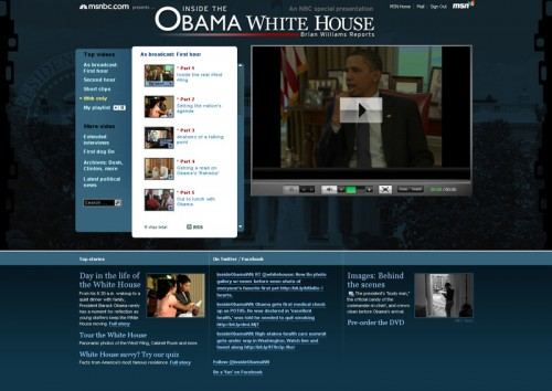 Inside the Obama White House video showfront